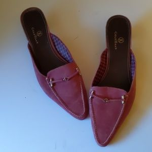Cole Haan pink suede mules-sz 8 1/2B